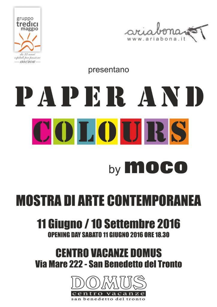 Locandina Paper and Colours by MOCO