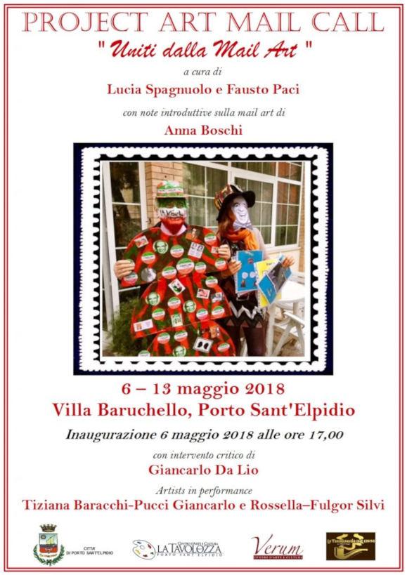Locandina Project Art Mail Call Uniti Dalla Mail Art by MOCO